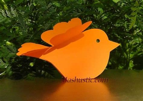 Paper Birds Craft - paper crafts birds brico