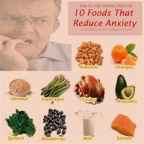foods that reduce anxiety health pinterest