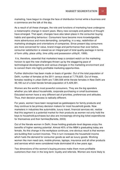Market Segmentation Essay by College Essays College Application Essays Market Segmentation Essay