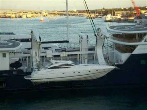 sle grant le grand bleu loading its tender yacht part 1