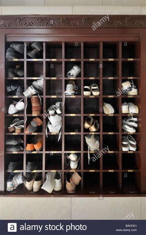Mosque Shoe Rack by Muscat Oman Shoe Racks At The Grand Mosque Where Footwear Is Not Stock Photo Royalty Free Image
