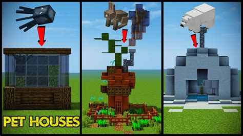 minecraft safe house designs 34 minecraft pet animal house designs youtube