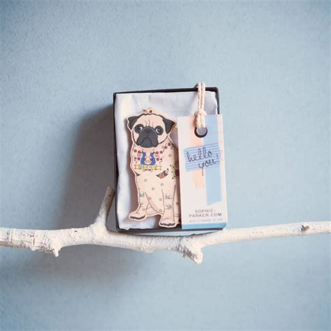 pug decorations uk pug ornament decoration by pugyeah notonthehighstreet