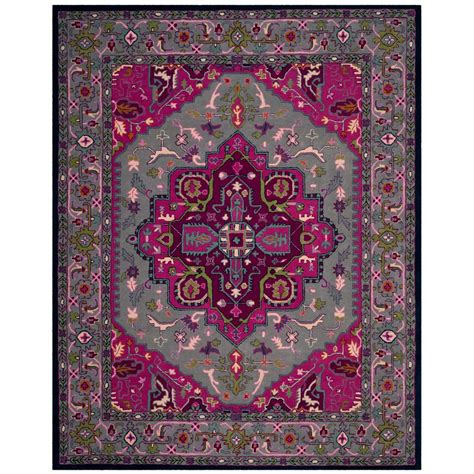 Pink And Grey Area Rug Safavieh Bellagio Gray Pink 8 Ft X 10 Ft Area Rug Blg541b 8 The Home Depot