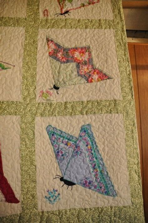 Handkerchief Butterfly Quilt Pattern by Quilts Made From Handkerchiefs Related Keywords Quilts