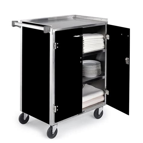 stainless steel cart lakeside 615 4 shelf standard duty stainless steel utility cart with enclosed base and black