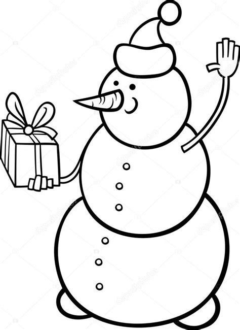 imagenes en blanco de navidad p 225 gina para colorear de navidad mu 241 eco de nieve vector