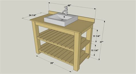 Bathroom Vanity Building Plans Rustic Bathroom Vanity Buildsomething