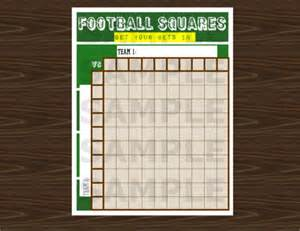 Download football grid or squares game pool template