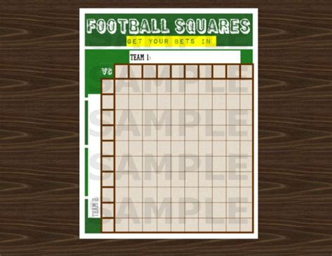 pool template 10x10 football squares word template studio design