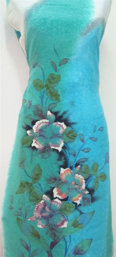Crepe Batik batik sutera crepe 2 tone silky batik sutera terengganu