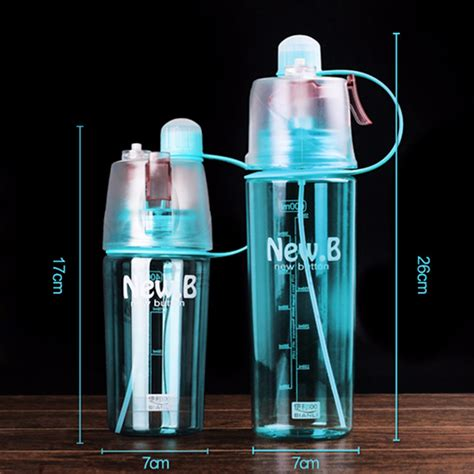 running room water bottles new creative spray water bottle portable atomizing bottles outdoor sports drinkware