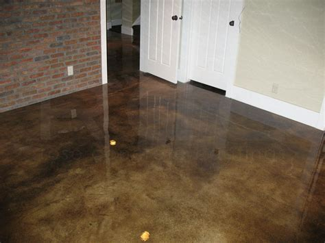 Concrete Garage Floor Stain by Acid Staining Gallery Concrete Coatings