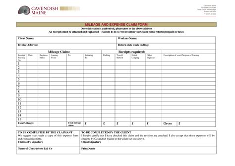mileage reimbursement form template best photos of expenses claim form template excel
