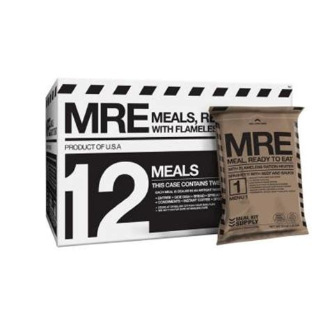 Shelf Of Mre Meals by Emergency Shelf Stable Meals Ready To Eat Mres With 3