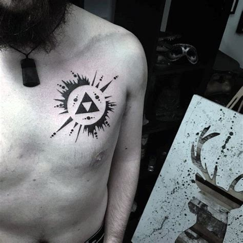 simple man tattoo 50 simple chest tattoos for manly design ideas