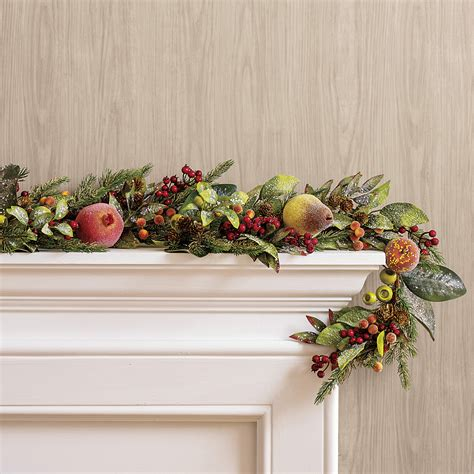 jeweled sugared fruit garland gump s