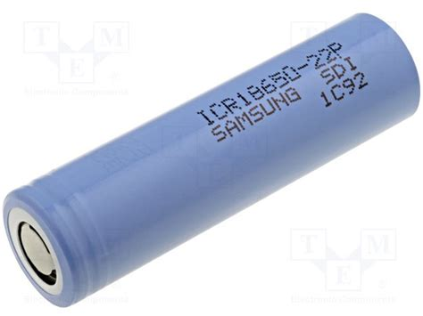Samsung Icr18650 22p Lithium Ion Battery 3 7v 2200mah 14 Days Purple icr 18650 22p samsung re battery li ion tme