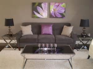 grey and purple living room decorating with purple and gray grey purple modern