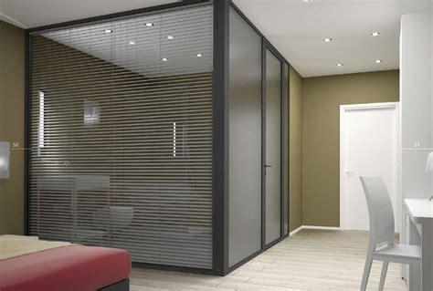 ufficio da casa pareti divisorie in vetro per interni casa