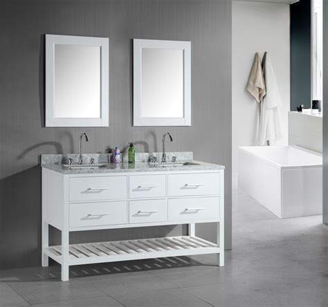 Furniture Attractive Bathroom With Double Sink Vanities Dual Bathroom Vanities