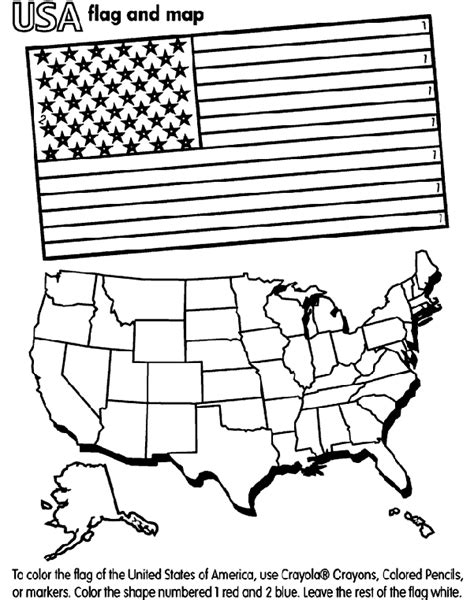 coloring page for united states flag united states of america crayola com au