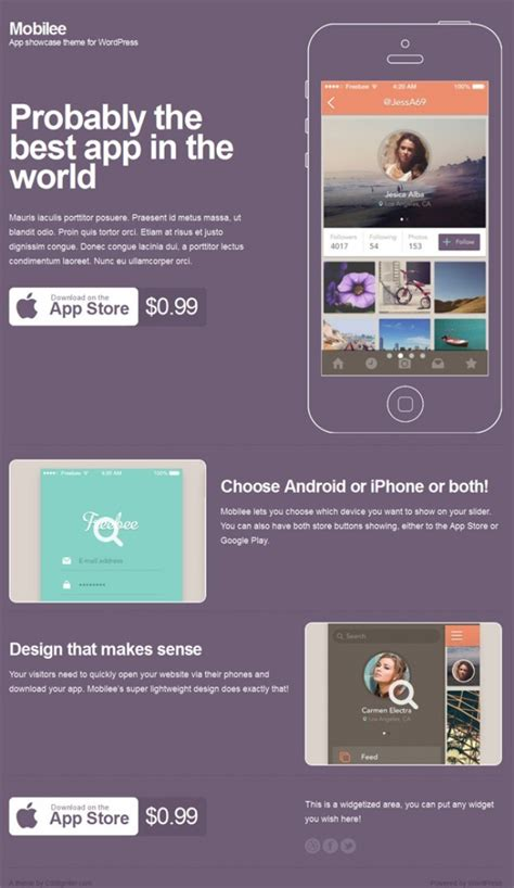 themes app download 25 best app showcase wordpress themes for 2018