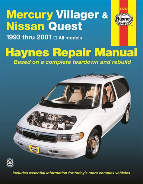manual repair free 1994 mercury villager engine control mercury villager nissan quest 93 01 haynes repair manual haynes manuals