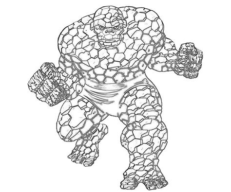 Free Coloring Pages Of Hulk Vs The Thing The Thing Coloring Pages
