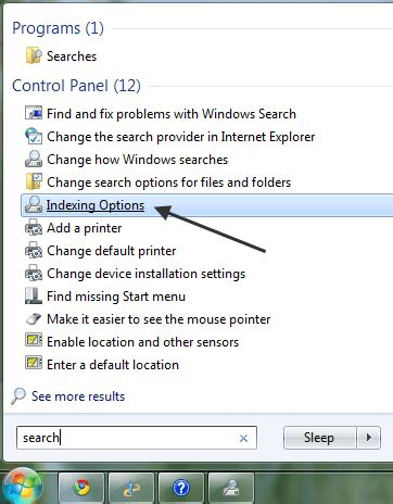 What Is Windows Search Email Indexer Windows 7 File Search Indexing Options