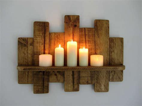 candelabros de pared candelabros de pared en madera decoracion cm recycled