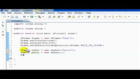 tutorial java button create jframe jpanel button swing gui in java