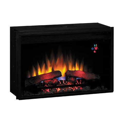 remote fireplace classic fixed front 26 inch electric fireplace insert with remote black 26ef023gra