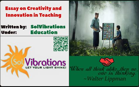 Free Essays On Creativity by Essay On Creativity And Innovation In Teaching