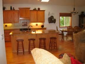 bathroom makeover photo: small kitchen dining living room with small open kitchen living room