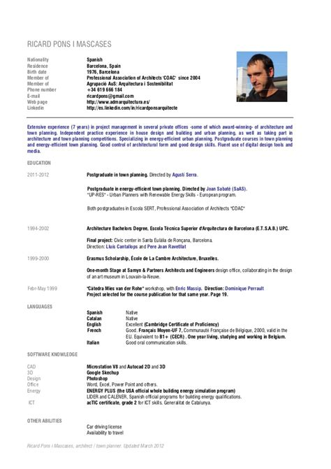Hair Stylist Sample Resume by Cv Ricard Pons English