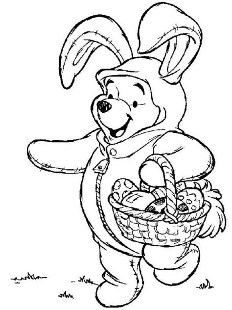 winnie the pooh easter egg coloring pages disney