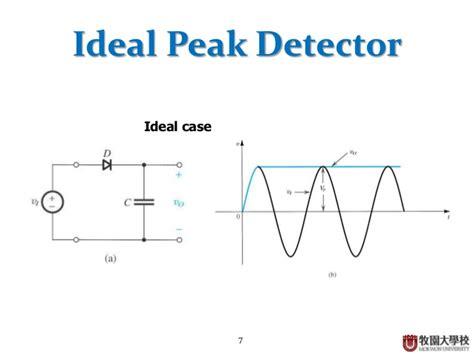 diode peak detector diode basic applications