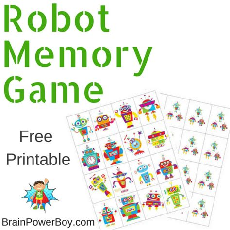 printable toddler games printable games for kids robot memory game