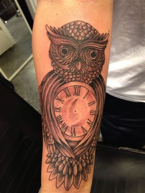 owl with clock tattoo the 25 best ideas about clock tattoos on time