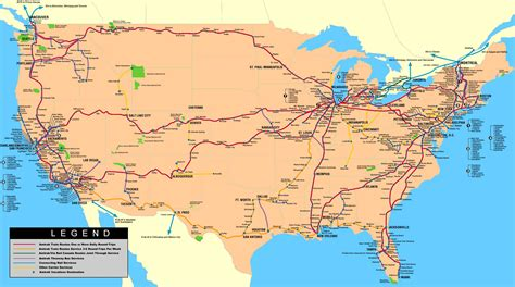 usa map routes amtrak travel how to get discount tickets