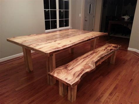 Pine Dining Room Tables by Beetle Kill Pine Dining Room Table And Bench By Jstretch