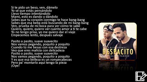 Despacito Justin Lirik | luis fonsi daddy yankee despacito audio ft justin