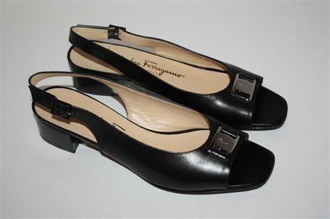 womens salvatore ferragamo boutique black leather sandals