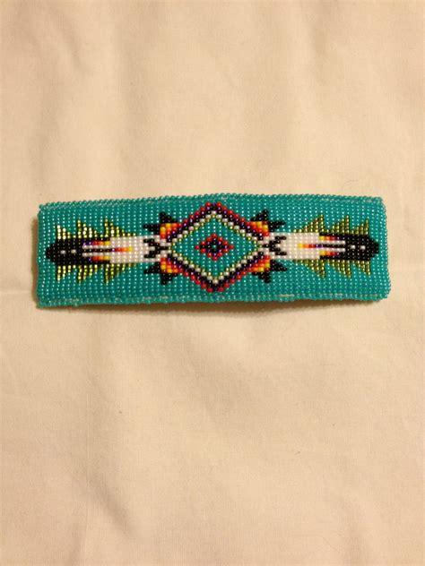 etsy bead pattern native american beaded barrette