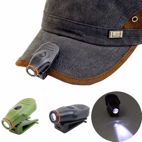 clip on led cap hat light l mini torch headlight