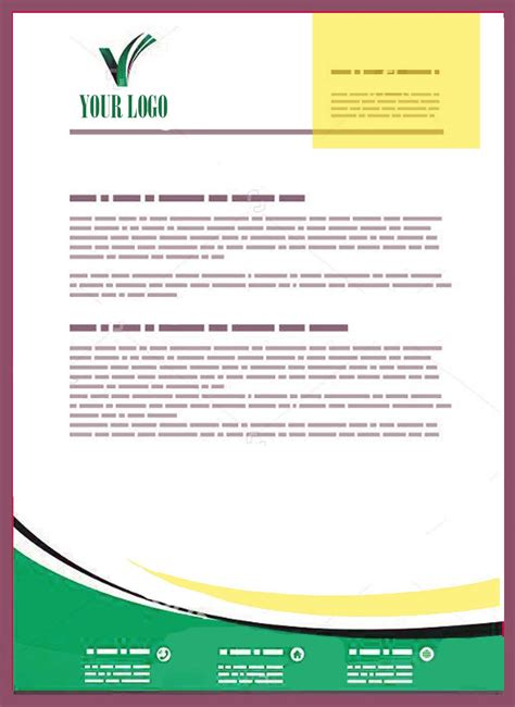 Business Letter Exles Doc Company Letterhead Templates Doc Ninareads