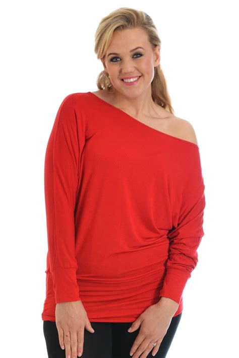 boat neck off shoulder top new ladies top womens batwing slouch boat neck off