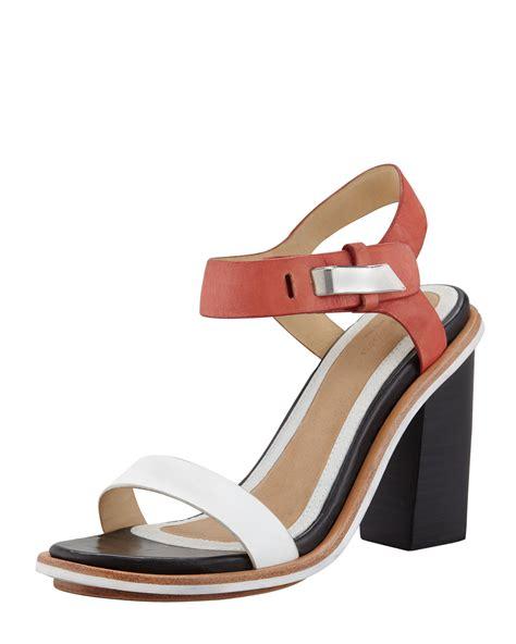 bone colored sandals rag bone arlo colorblock sandal in multicolor white