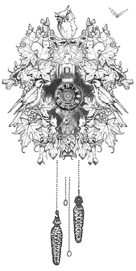 Cuckoo Clock Drawing